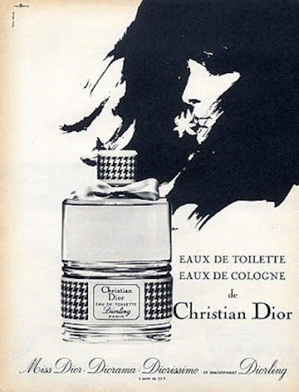 Dior Diorling and other Dior fragrances vintage 1955 ad (hprints.com)