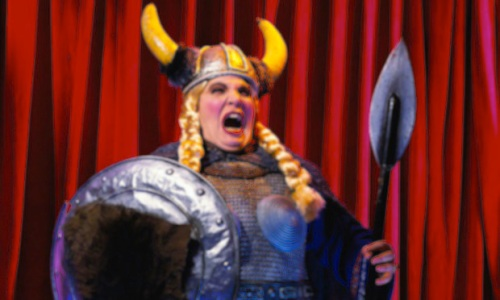 Opera singer portraying Valkyrie opera singer portraying Valkyrie Wagner's Ring Cycle
