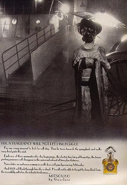 Mitsouko ad 1974 Guerlain perfumeshrine.com
