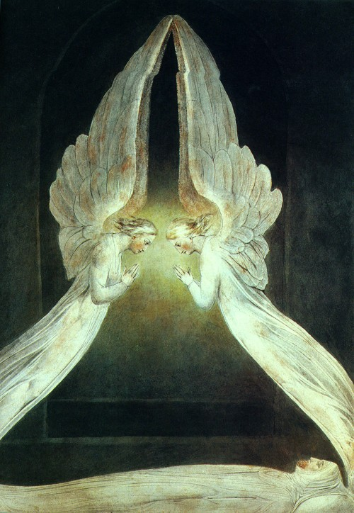 Christ In the Sepulcher Guarded by Angels William Blake, c. 1805